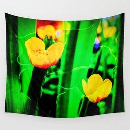 Flowers magic marsh Marigold Wall Tapestry