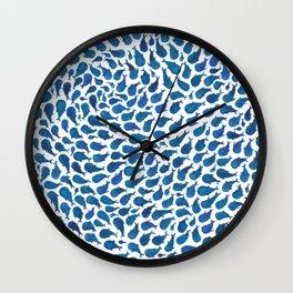 Blue Whales Wall Clock