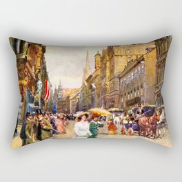 Great vintage belle epoque scene Vienna Austria  Rectangular Pillow