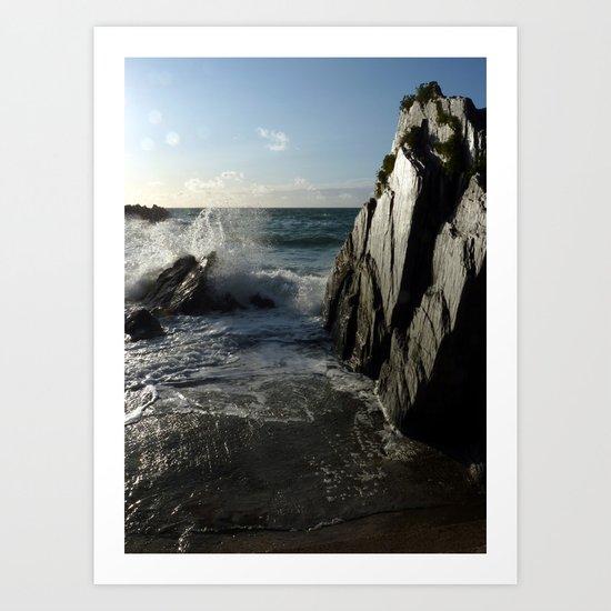 Black Rock, White Light. Art Print