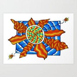 Sterinedda's sun Art Print