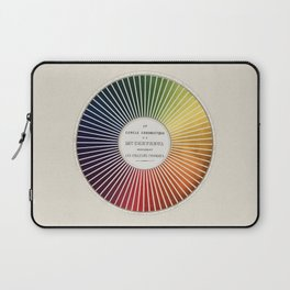 Chevreul Cercle Chromatique, 1861 Remake, vintage wash Laptop Sleeve