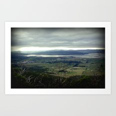 Tasmania's rural & mountainscape Scenery Art Print
