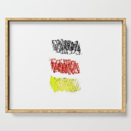 flag of germany II Serving Tray