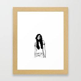 girl girl Framed Art Print
