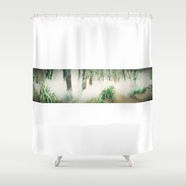 AllenbyArt Fog Machine Landscape Scenery of Northern Hardwood Forest, Photography,  Shower Curtain