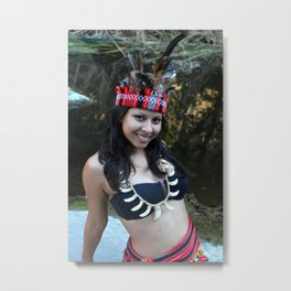 Indian Woman Metal Print