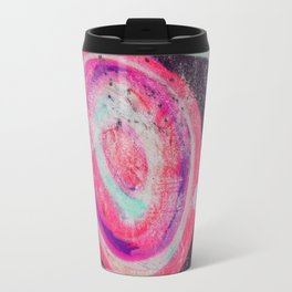 Abstract Green Pink Travel Mug
