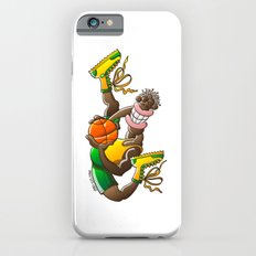 Amazing basketball player performing an acrobatic jump iPhone 6s Slim Case