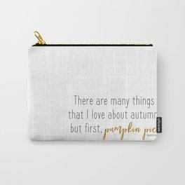 Pumpkin Pie Haiku Carry-All Pouch