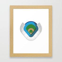 Baseball Stadium Framed Art Print