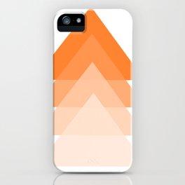 orange triangles on white background iPhone Case