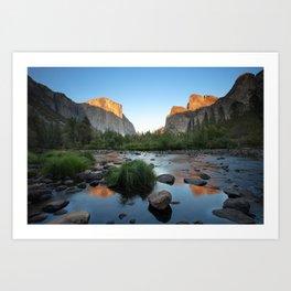 Valley View Sunset, Yosemite, California Art Print