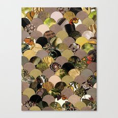 Autumn Scalloped Pattern Canvas Print