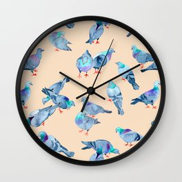 Flock of Pigeons Wall Clock