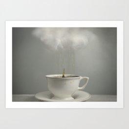 Raining Tea Art Print