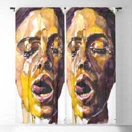 Watercolor painting of Monica Bellucci, Monica Blackout Curtain