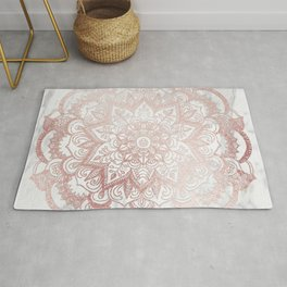 Rose Gold Mandala Star Rug