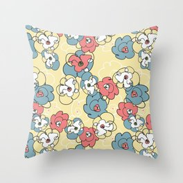 Dancing Icecream Flowers Throw Pillow