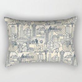 Seattle indigo cream Rectangular Pillow