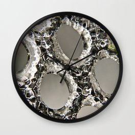 Chained in ice Wall Clock