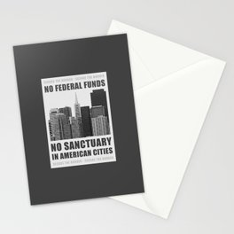 No Sanctuary Cities Stationery Cards