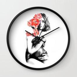 Natalia Vodianova // Fashion Illustration Wall Clock