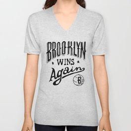 Brooklyn Wins Again (Home)  Unisex V-Neck