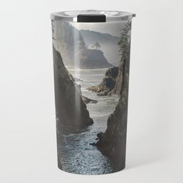 Misty Oregon Coast Travel Mug