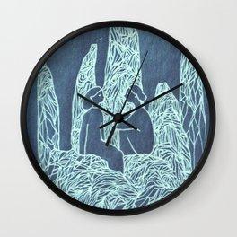 friends blue Wall Clock