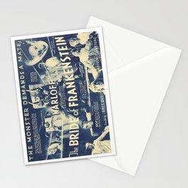 Bride of Frankenstein, vintage horror movie poster Stationery Cards