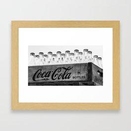 Bottles of Coke. Framed Art Print