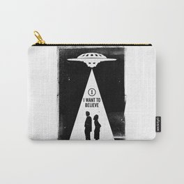 Black Brush - X I want to believe Files Carry-All Pouch