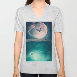 Lunar Mare by GEN Z Unisex V-Neck