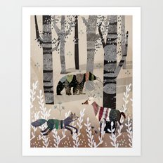 Forest in Sweater Art Print