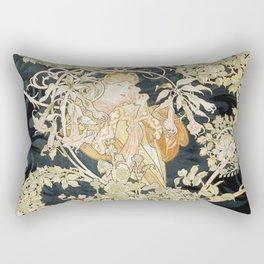 1898 Femme A Marguerite Alphonse Mucha Rectangular Pillow