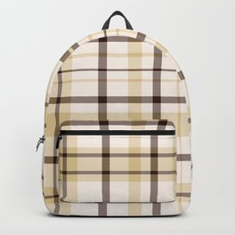 Chocolate Chip Cookie Dough Plaid Backpack