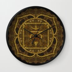 Earth Glitter | Root Chakra Wall Clock