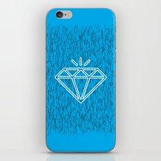 diamond cyan iPhone & iPod Skin