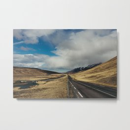 Lonesome mountain roads on iceland Metal Print