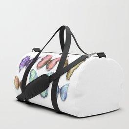 Butterfly Taxidermy 10 // Beautiful Mandala Detailed Wings Design // Pink Purple Aqua Green Blue Duffle Bag