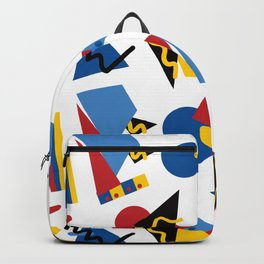 Postmodern Primary Color Party Decorations Backpack