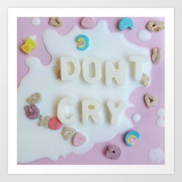 Don't Cry Over Spilled Milk Art Print