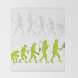Evolution of Tennis Species Throw Blanket