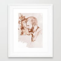 bon iver Framed Art Prints featuring Bon Iver (Justin Vernon) by ChrisGreavesCreative
