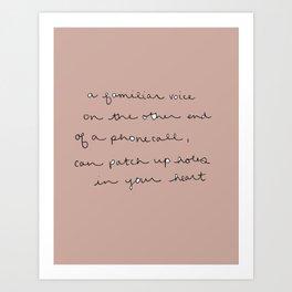familiar words Art Print