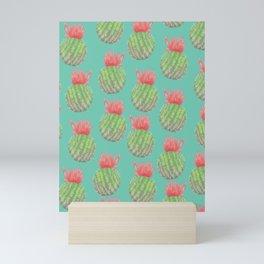 Cactus Bloom Surface Pattern Mini Art Print