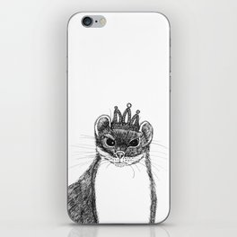 flapper weasel wearing a glittering tiara iPhone Skin