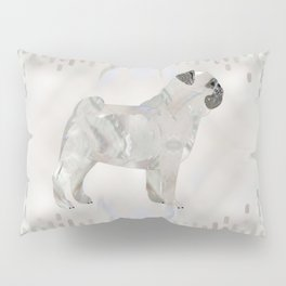 Pug dog pearl silhouette Pillow Sham