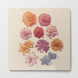 10 Flowers Metal Print